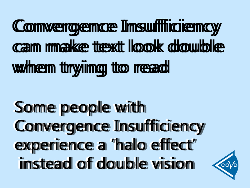 convergence insufficiency sample text