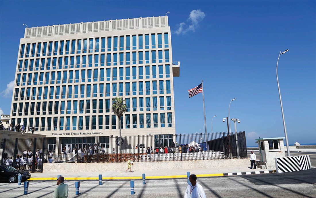 US Embassy Cuba where diplomats suffered brain injury type symptoms
